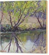 Duckmaloi River Reflections Wood Print