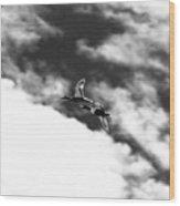 Ducks In Flightt Wood Print