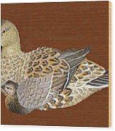 Ducks - Wood Carving Wood Print