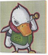 Ducky Death Wood Print