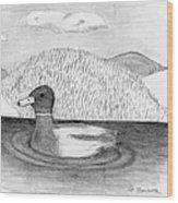 Ducky Wood Print