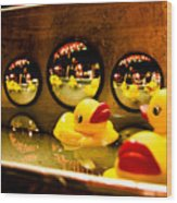 Ducky Reflections Wood Print