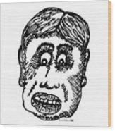 Dude Face Wood Print
