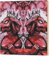 Duel Ganesh Wood Print