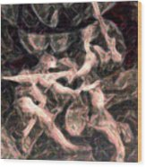 Duel In Fluidity Wood Print