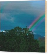 Dueling Rainbows Wood Print