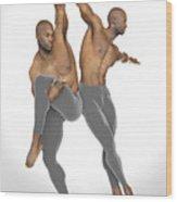 Dueto De Danza Wood Print
