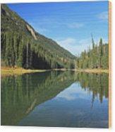 Duffey Lake Reflection In Autumn Wood Print