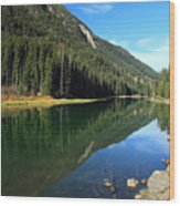 Duffey Lake Reflection Wood Print