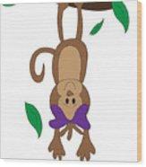 Duffworkscreative_monkeyfunlove_hangin Wood Print