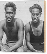 Duke And Sam Kahanamoku Wood Print
