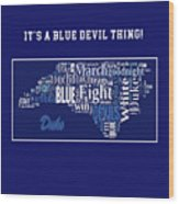Duke University Fight Song Products Wood Print