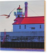 Duluth Lighthouse Wood Print