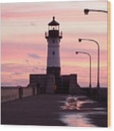 Duluth Sunrise Wood Print