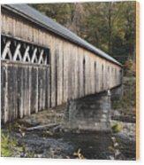Dummerston Covered Bridge Wood Print