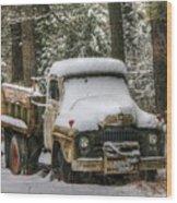 Dump Truck Wood Print