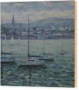 Dun Laoghaire Harbour Dublin Wood Print