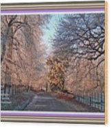 Dundalk Avenue In Winter. L A With Alt. Decorative Printed Frame. Wood Print