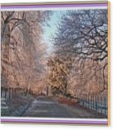 Dundalk Avenue In Winter. L A With Decorative Ornate Printed Frame. Wood Print