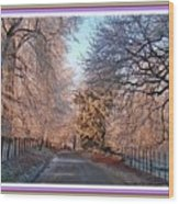 Dundalk Avenue In Winter. L B With Decorative Ornate Printed Frame. Wood Print