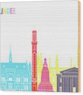 Dundee Skyline Pop Wood Print