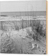 Dune - Black And White Wood Print