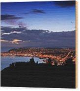 Dunedin By Dusk Wood Print