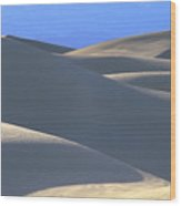 Dunes And Blue Mountains Wood Print