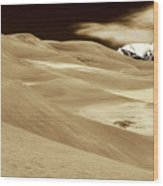 Dunes And Peak Wood Print