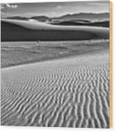 Dunes Details Wood Print