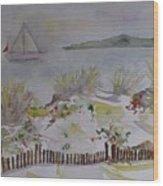 Dunes In Corsica Wood Print