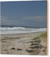 Dunes On Long Island Wood Print