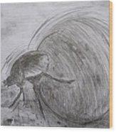 Dung Beetle Wood Print