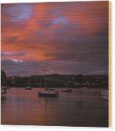 Dungarvan Harbor Sunset 2 Wood Print