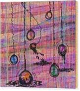 Dunking Ornaments Wood Print