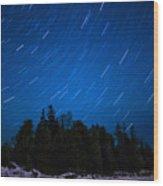 Dunks Point Star Trail Wood Print
