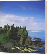 Dunluce Castle, Co Antrim, Irish, 13th Wood Print