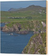 Dunquin Bay And Coast Wood Print