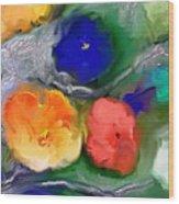 Duo De Fleurs 2 Wood Print