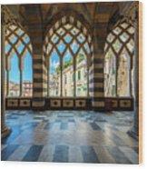 Duomo Di Amalfi Wood Print