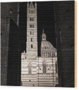 Duomo Di Siena Wood Print