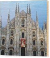 Duomo - Milan -italy Wood Print
