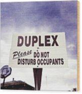 Duplex Yard Sign Stormy Sky Wood Print