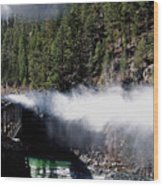 Durango Silverton Blowing Off Steam Wood Print