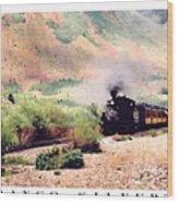 Durango-silverton Train Wood Print