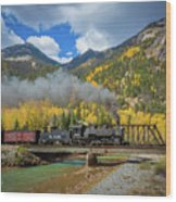 Durango-silverton Twin Bridges Wood Print