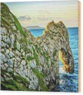 Durdle Dore - Ocean Rock Formation Wood Print