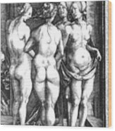 Durer Four Witches, 1497. For Licensing Requests Visit Granger.com Wood Print