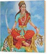 Durga Devi  Wood Print