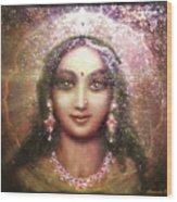 Vision Of The Goddess - Durga Or Shakti Wood Print